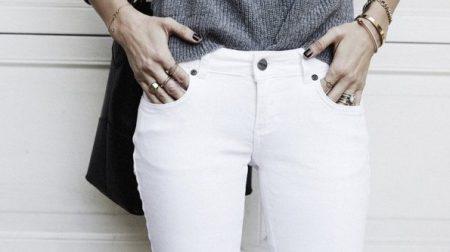 білі джинси