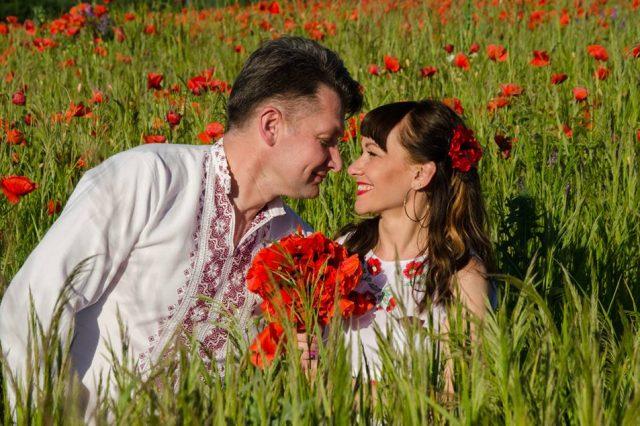 Володимир Новацький з дружиною