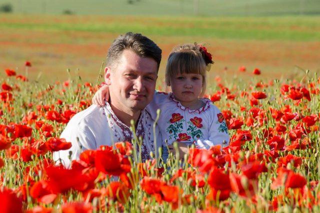Володимир Новацький з донькою