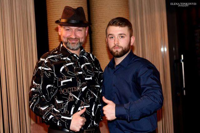 Володимир Новацький з Миколою Бобриком